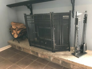 Fireplace set - excellent like new condition!