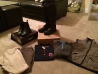 Ladies Riding Gear Lot Size 12 Clothing Size 6 shoes