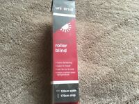 48 inch red slatted blind and red lamp shade brand new
