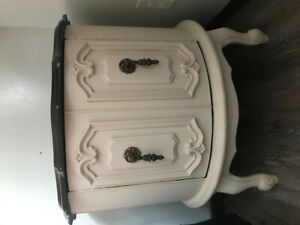 French provincial drum end/side tables