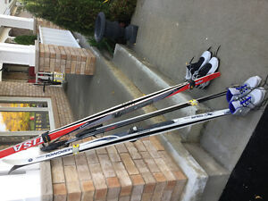 Cross Country Skis Poles and Boots