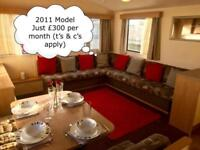 Cheap Family Static Caravan For Sale on Beach Front Park in North Wales