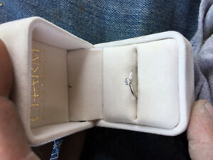 .2 karat engagement ring Tiffany setting 18K white gold size4.75