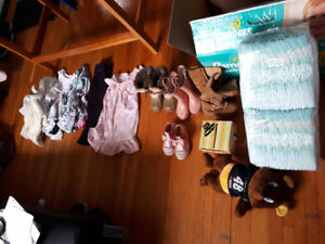 Toddler Size 3, 4 clothes and size 8 footwear