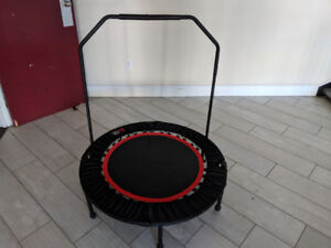 40 inch Exercise Trampoline with handlebar attachment