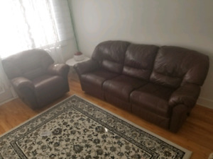 Sofa set 2 recliner salon couch