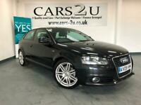 2009 09 Audi A3 2.0T FSI S Line Black (FINANCE AVALIBLE), used for sale  Great Bentley, Essex