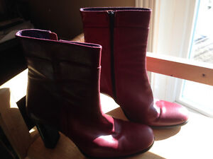 assorted ankle boots, boots, shoes