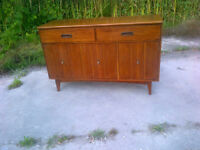 MCM ELM SIDEBOARD. Great for TV. Compact. Not teak.