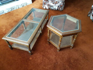 Coffee Table and Octagonal End Table glass inset. $75