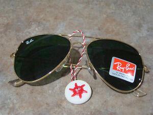 Green Lens Gold Frame Ray-Ban Aviator RB3025 RayBan Sunglasses Regina Regina Area image 3