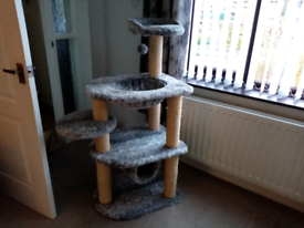 Cat activity center stand