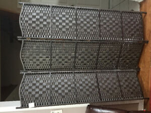Gorgeous bamboo three panel room divider/privacy screen