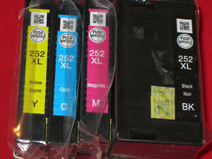 Epson T252XL New Compatible Ink Cartridges (High Yield)BK/C/M/Y