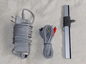 Official Nintendo Wii Wires Fils AV, Power Supply & Sensor
