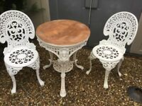 rustic garden table and chairs used