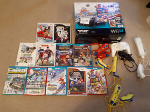 Nintendo Wii U barely used with 6 consoles and 11 games