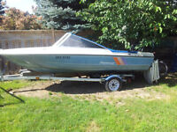 16ft Boat, 50HP Mercury Motor and Trailer $1500