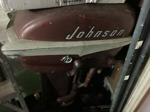 Vintage 10hp Johnson Outboard