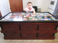 Handmade Coffee table 6 drawers and collage top