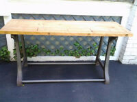 HEAVY Metal Base with Wood Top