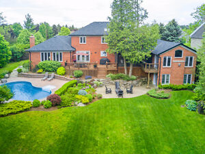Prestigious home situated on a gorgeous 125 x 230 ft. lot