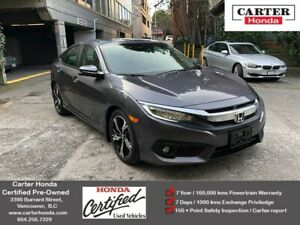 2017 Honda Civic Touring + CERTIFIED + MANAGERS SPECIAL!