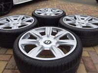 "Genuine 20"" Bentley GTC Alloy wheels and Tyres To Fit VW Golf / Scirocco Audi A4 A6 T4 T5"