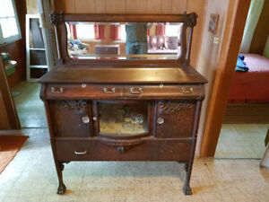 REDUCED PRICE! - Antique buffet table OR side-board table