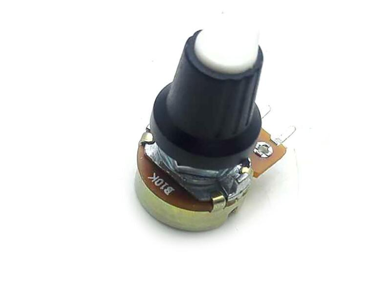US Stock 5 Units 10K B10K OHM Linear Taper Rotary Potentiometer POT White Knob