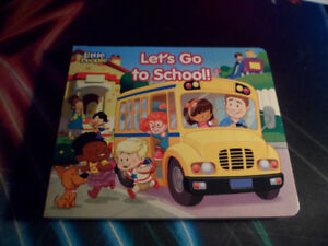 LITTLE PEOPLE LET'S GO TO SCHOOL BOOK FISHER PRICE
