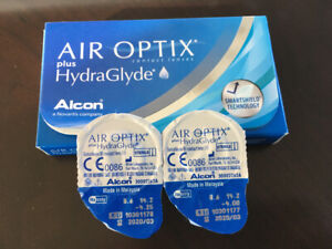 Verre de contact, air optix