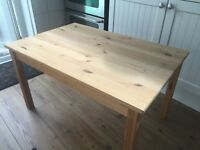 IKEA pine Ingo coffee table