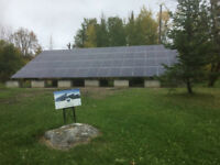 Solar installation on or off grid battery back up or pole lights