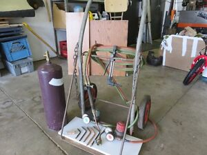 Oxy Acetylene Torches and Cart