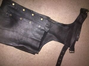 LEATHER CHAPS - XL SIZE
