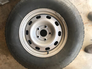 Winter tires on steel rims for sale. $200
