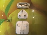 Genuine Apple lightning cable wall plug EarPods
