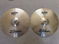 """Zildjian ZHT 14"""" Rock High Hi Hats in Superb Condition NOT Sabian Paiste K AAX A Custom Mapex Pearl"""