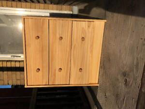 2 small 3-drawer wood dressers