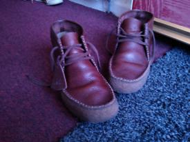 clarks wallabee ridge, leather, UK 7.5