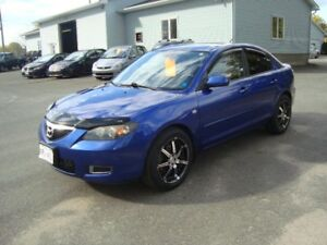 2007 MAZDA 3 SEDAN 4DR BLUE IN COLOR $2995 PLUS HST