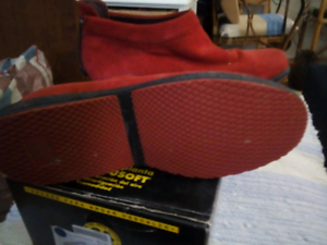 Red suede ankle boots Camp Hill Brisbane South East Preview