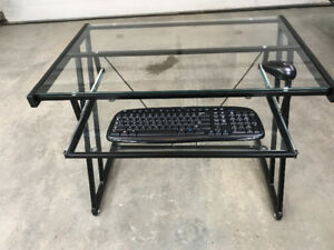 Tempered Glass Computer Station
