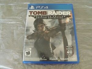 LIKE NEW .Tomb Raider Difinitive edition for PS4. $18.00