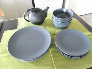 Charcoal Ikea Dishes, 13 pieces
