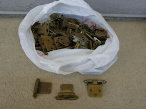 Antique brass cabinet hinges
