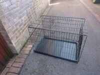 Dog crate.