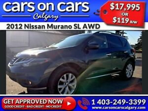 2012 Nissan Murano SL AWD w/Leather, Sunroof, Navi $119B/W INSTA