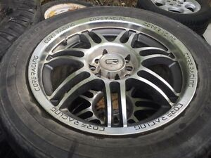 "Set of 4  16"" Core Racing rims"
